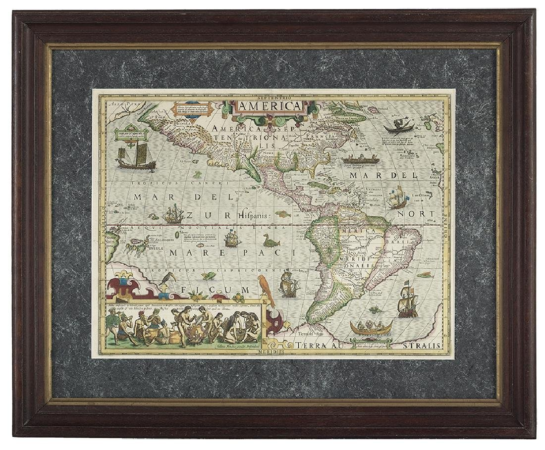 America, Rare Early Map of the Americas