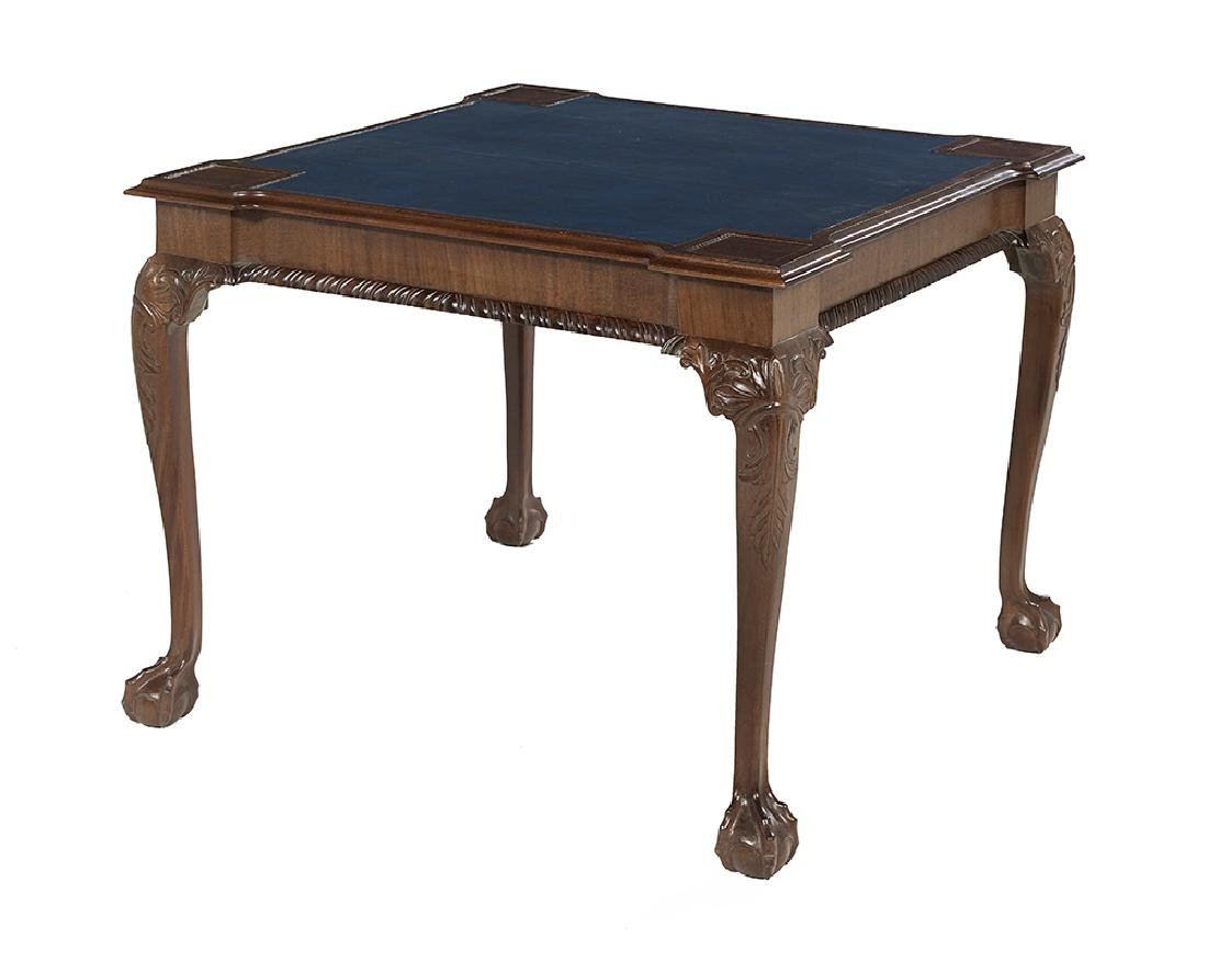 American Chippendale-Style Mahogany Games Table