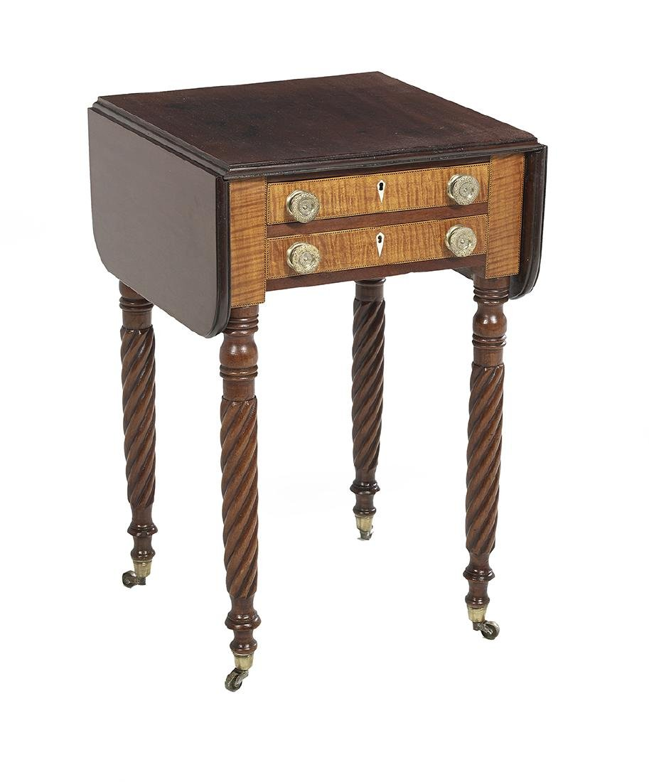 American Classical Line-Inlaid Work Table