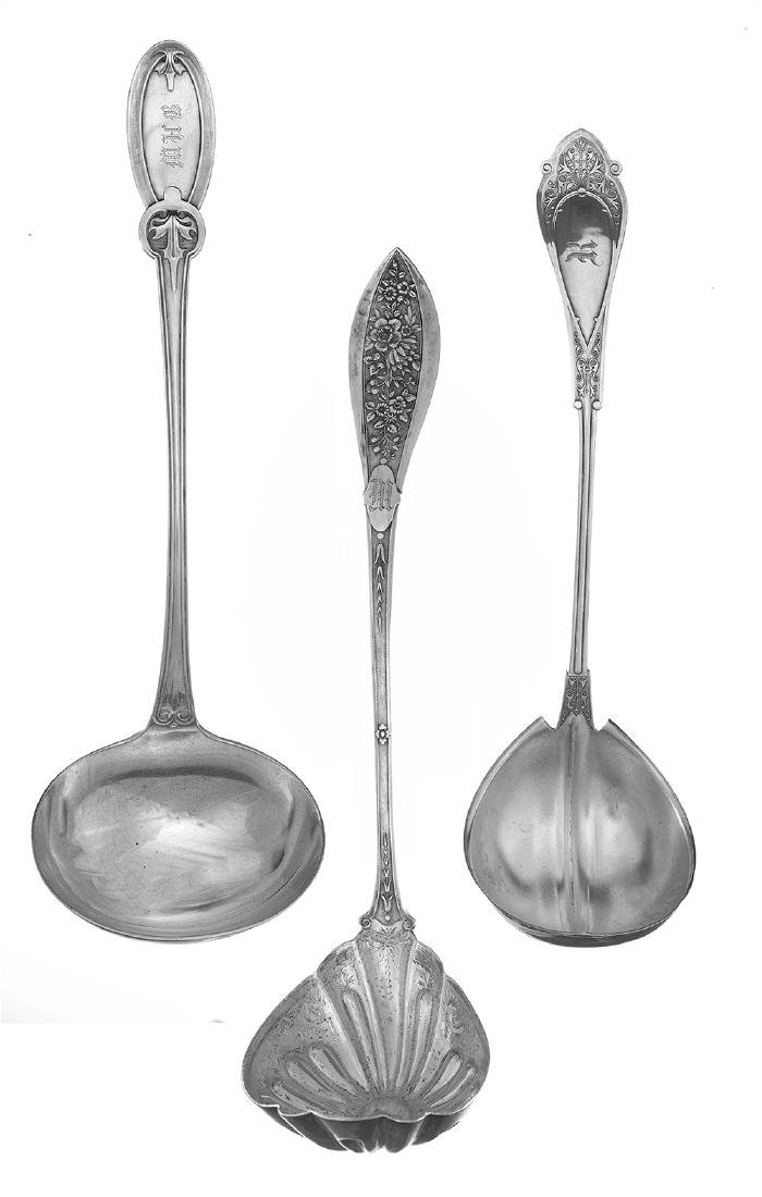 Three American Sterling Silver Ladles