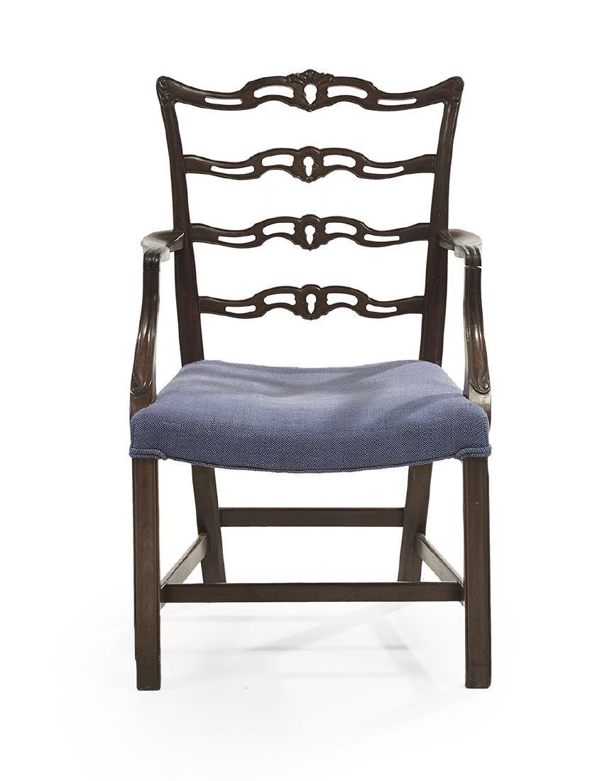 Ten George III-Style Mahogany Dining Chairs - 2
