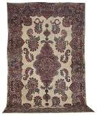 Semi-Antique Lavar Kerman Carpet