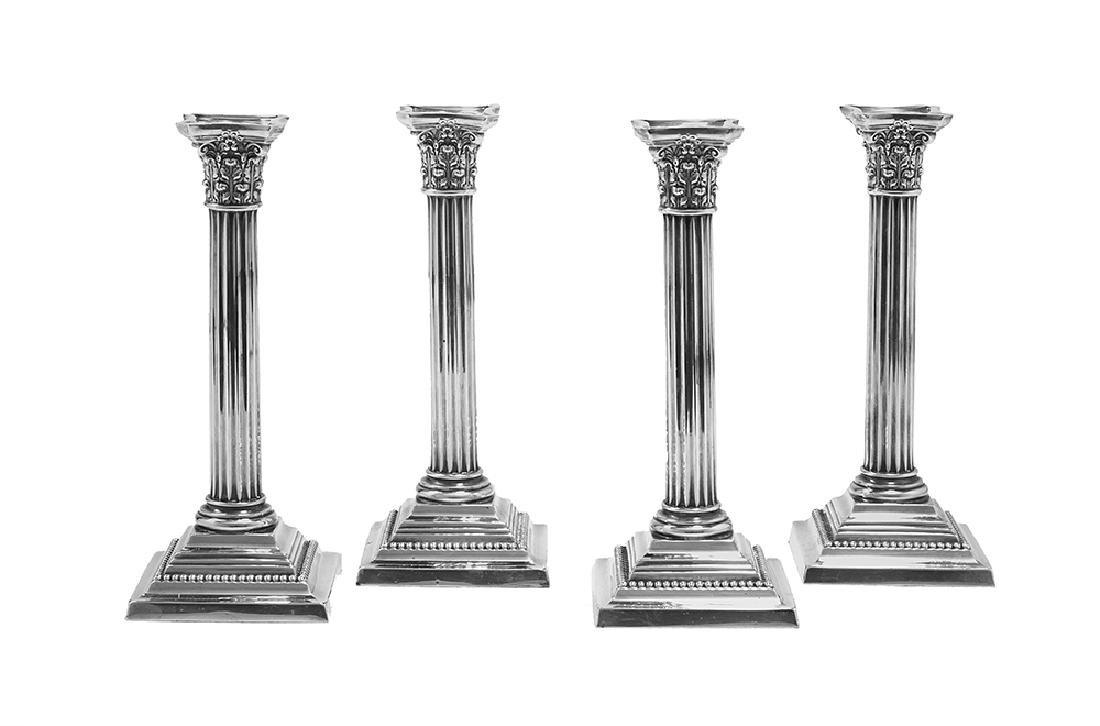 Set of Four Gorham Sterling Silver Candlesticks