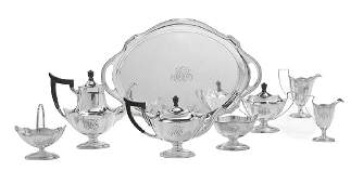 Gorham Plymouth Sterling Silver Tea Set