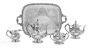 Frank M. Whiting Sterling Silver Tea Set