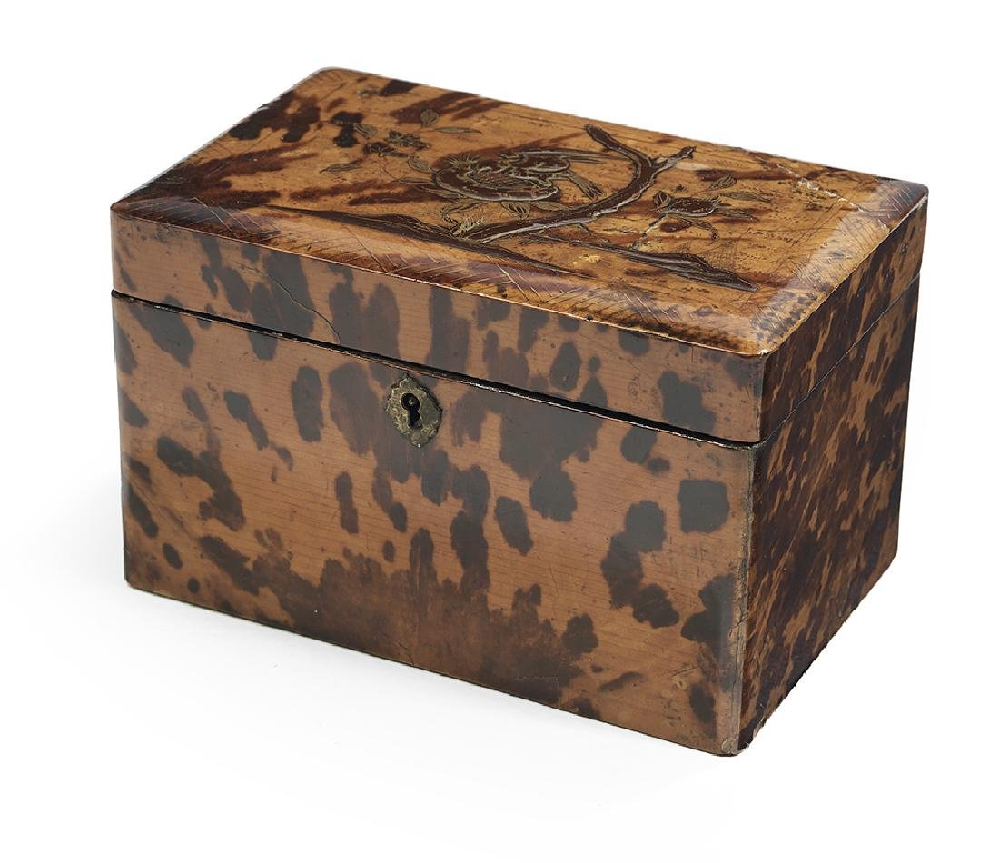 Japanese Export Tortoiseshell Tea Caddy