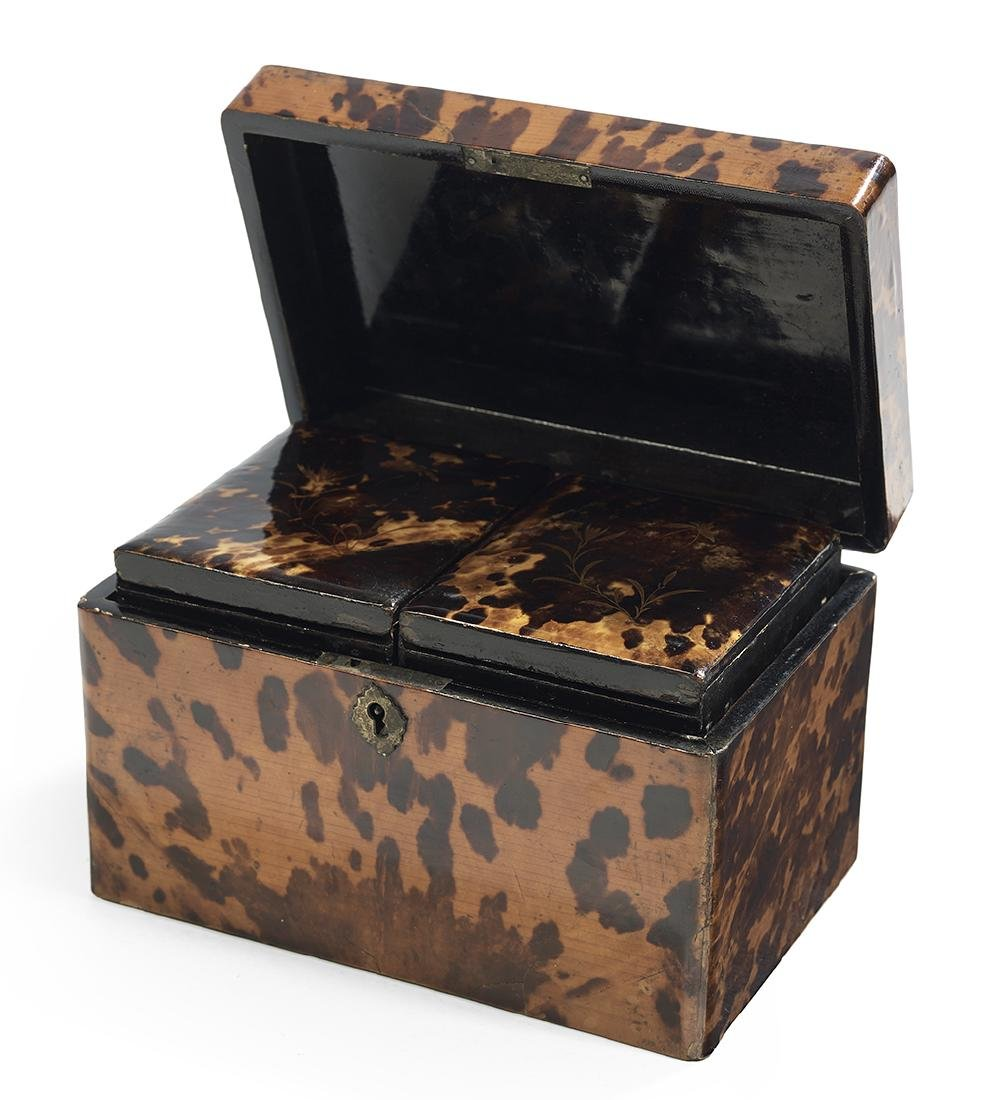 Japanese Export Tortoiseshell Tea Caddy - 2