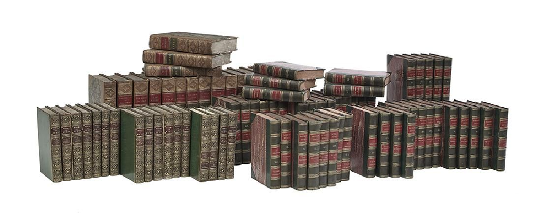 Three Sets of Leather-Bound Books