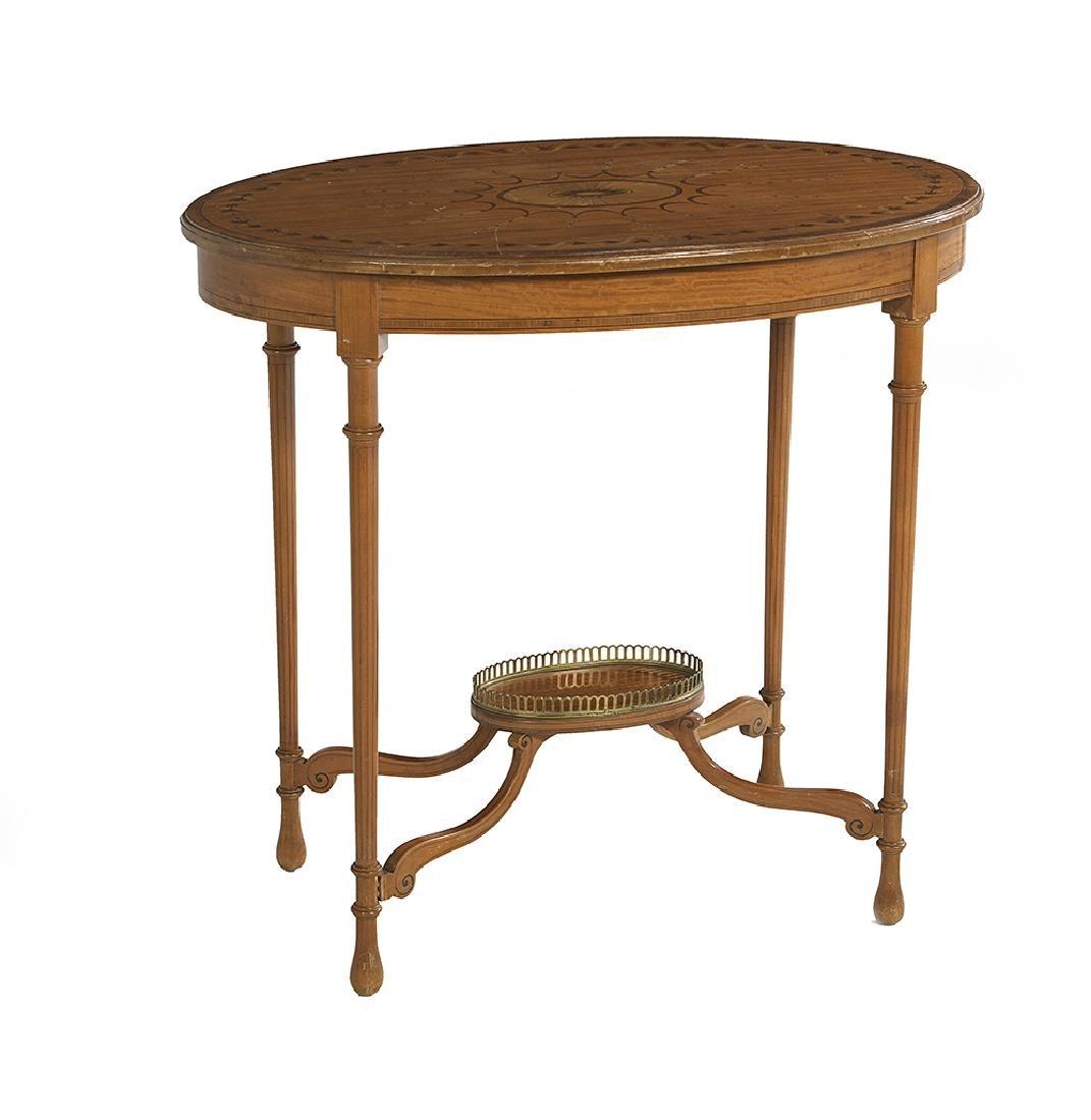 Edwardian Satinwood Occasional Table