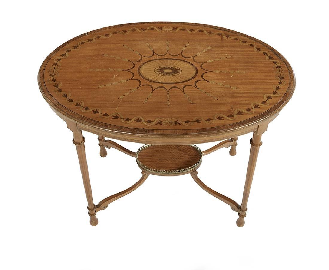 Edwardian Satinwood Occasional Table - 2