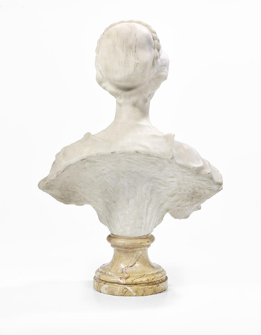 Italian Carved Marble Bust of an Elegant Lady - 2