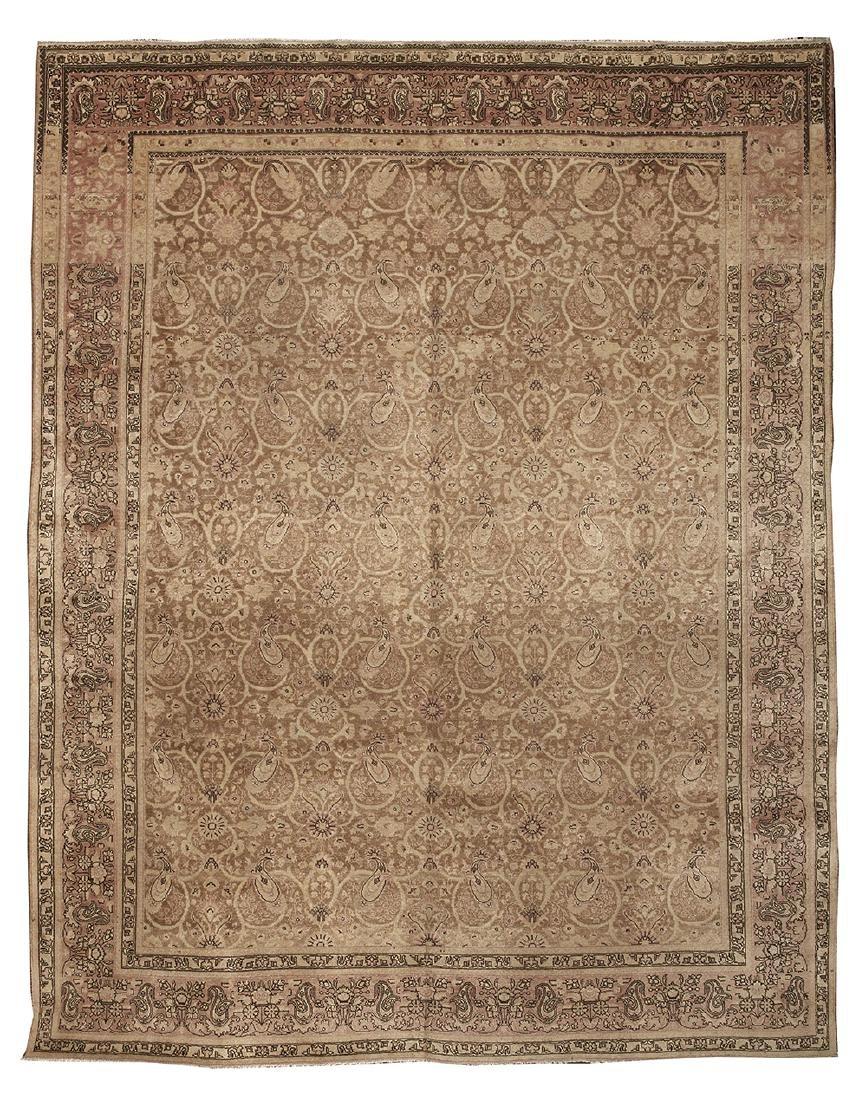 Semi-Antique Persian Tabriz Carpet