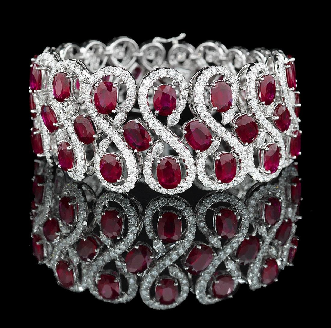 Stunning Ruby and Diamond Bracelet