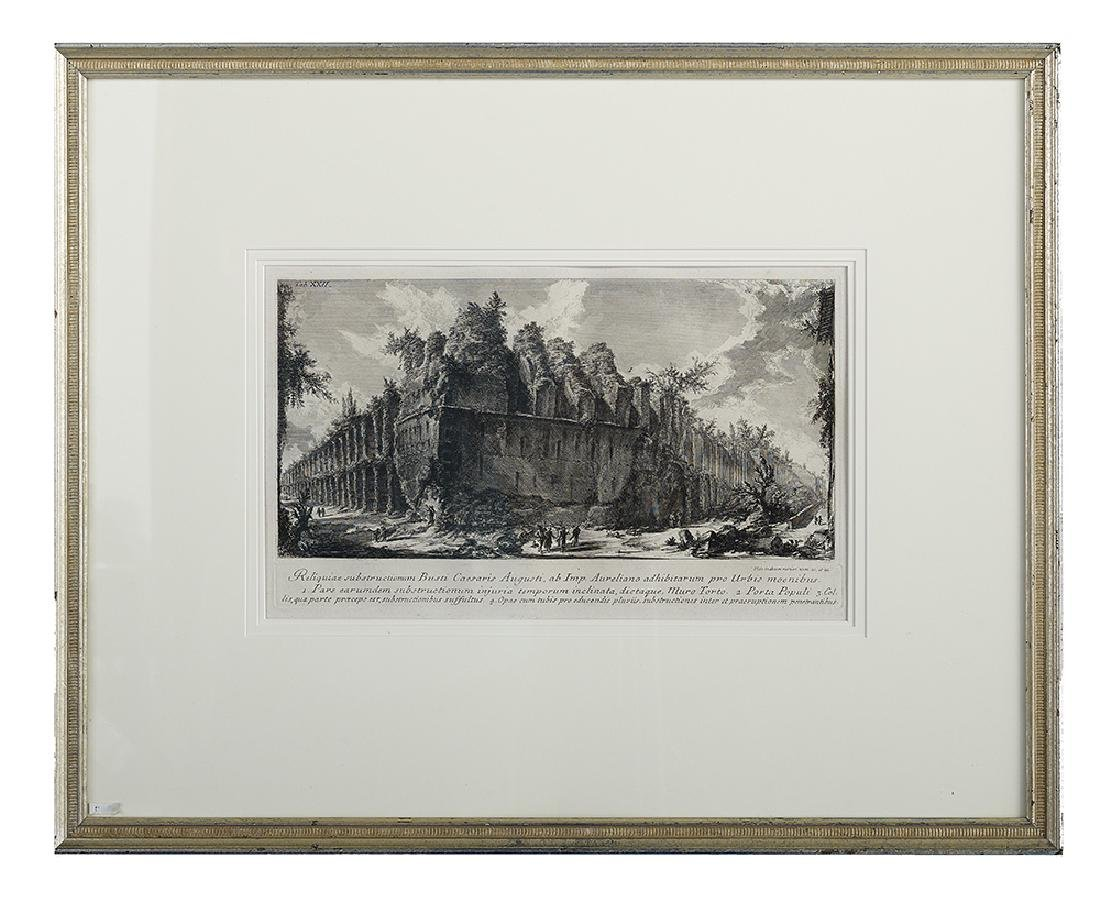 Four Continental Architectural Engravings