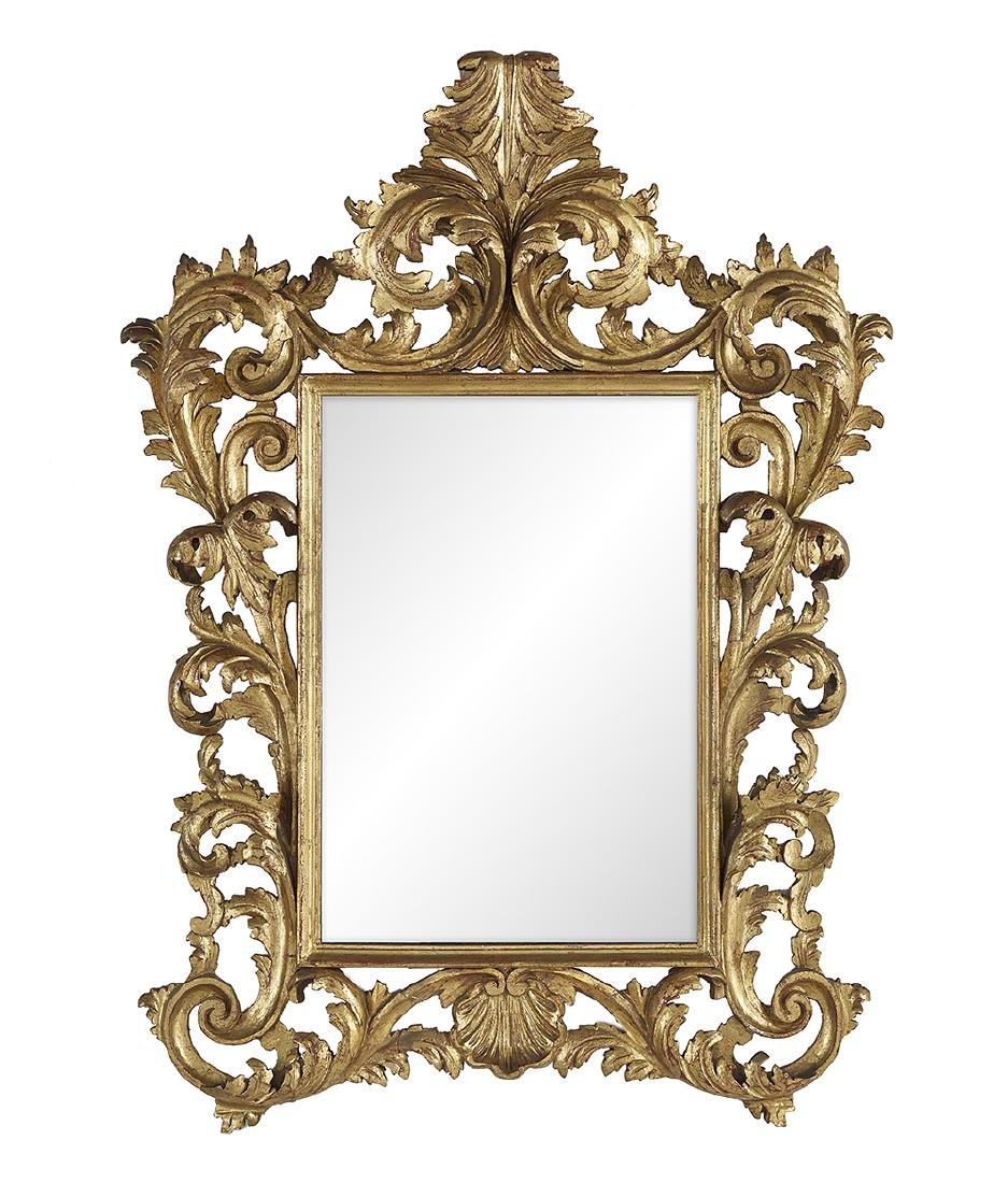 Continental Giltwood Mirror in the Baroque Taste