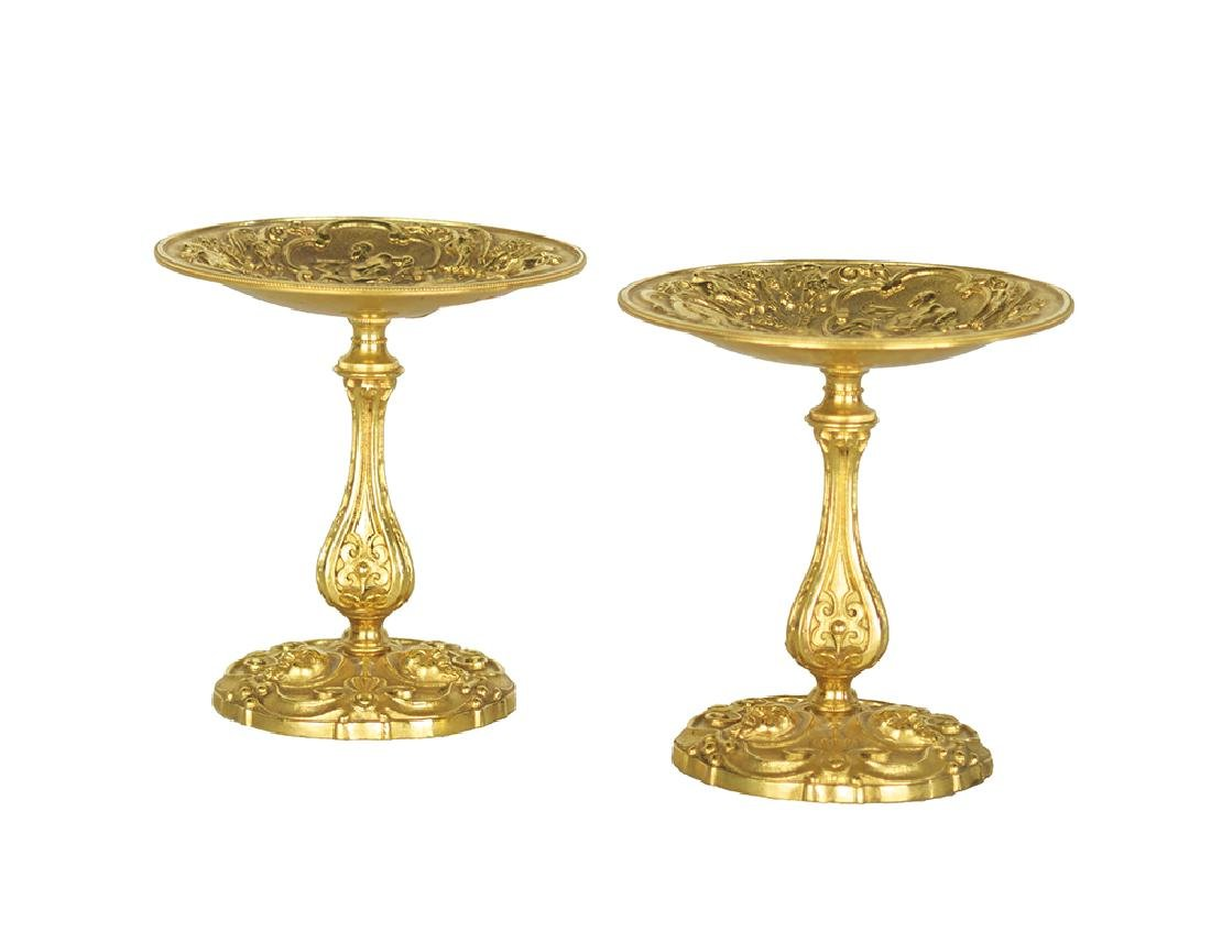 Pair of Gilt-Metal Tazzas