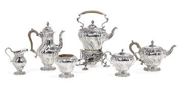 Good George V SixPiece Sterling Silver Tea Set