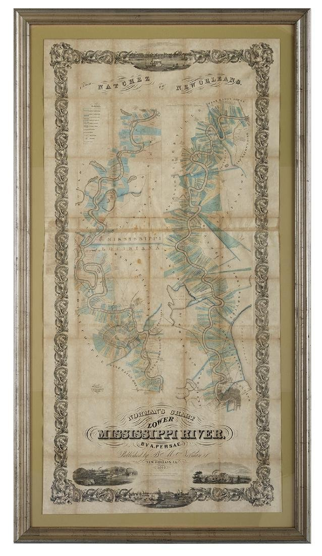 Norman's Chart of the Lower Mississippi, 1858