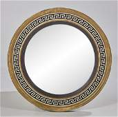 Regency-Style Paint-Decorated Convex Mirror