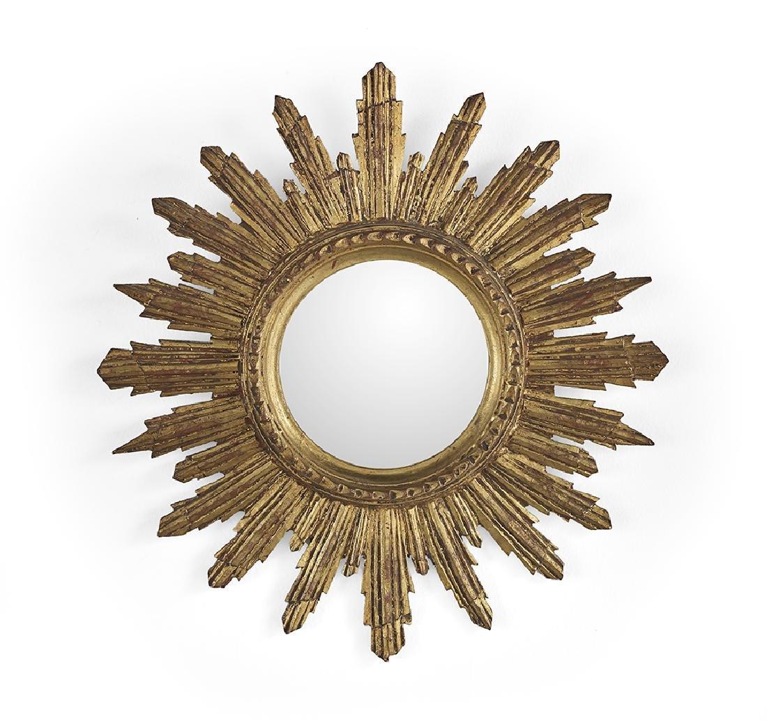 Small Giltwood Sunburst Mirror