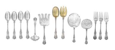 13 Tiffany English King Silver Serving Pieces