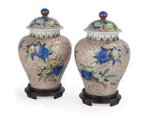 Unusual Pair of Chinese Porcelain Ginger Jars