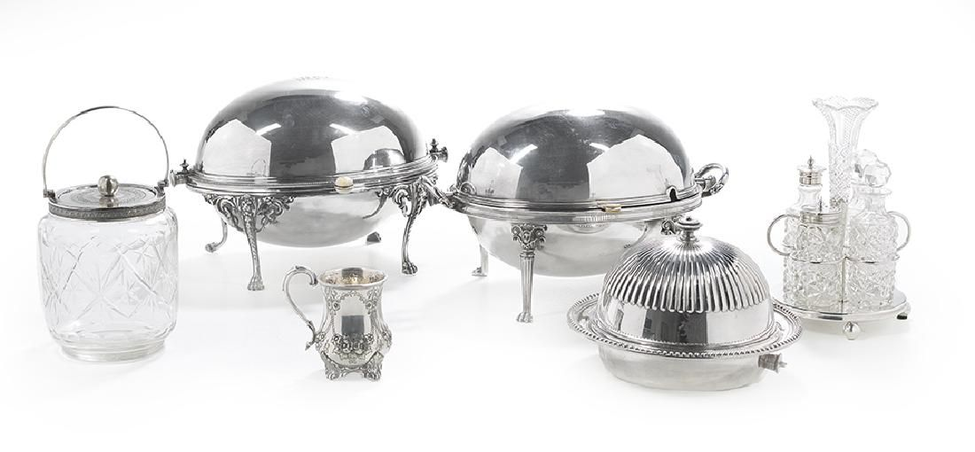 Six Pieces of Victorian Silverplate Tableware