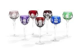 Thirty-Six Bohemian Cut-to-Clear Wine Stems