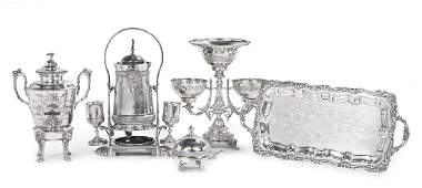 Five Pieces of American and Other Silverplate