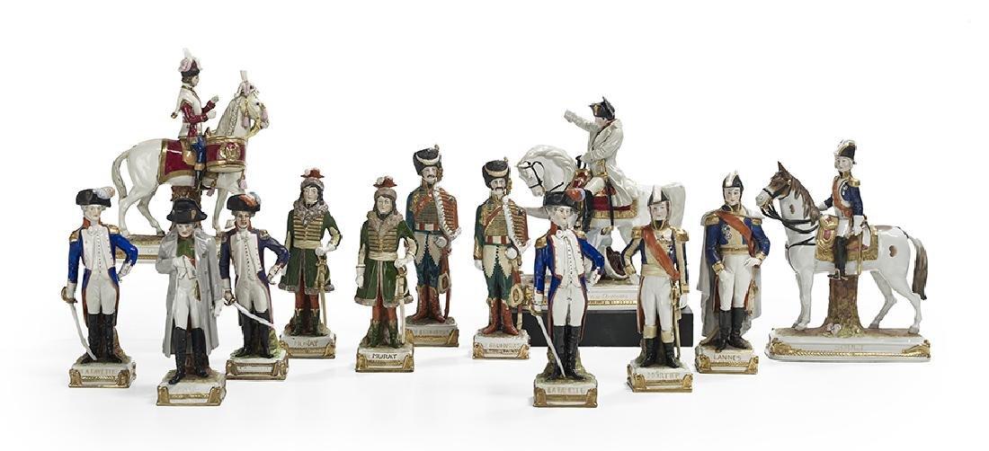Thirteen-Piece Collection of German Porcelain Figures