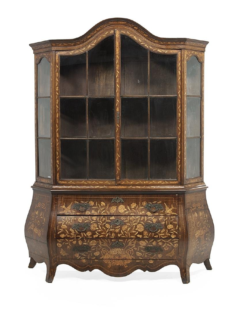 Dutch Mahogany and Marquetry Cabinet