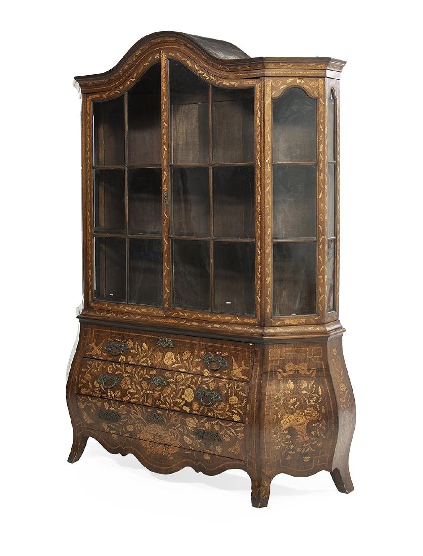 Dutch Mahogany and Marquetry Cabinet - 2