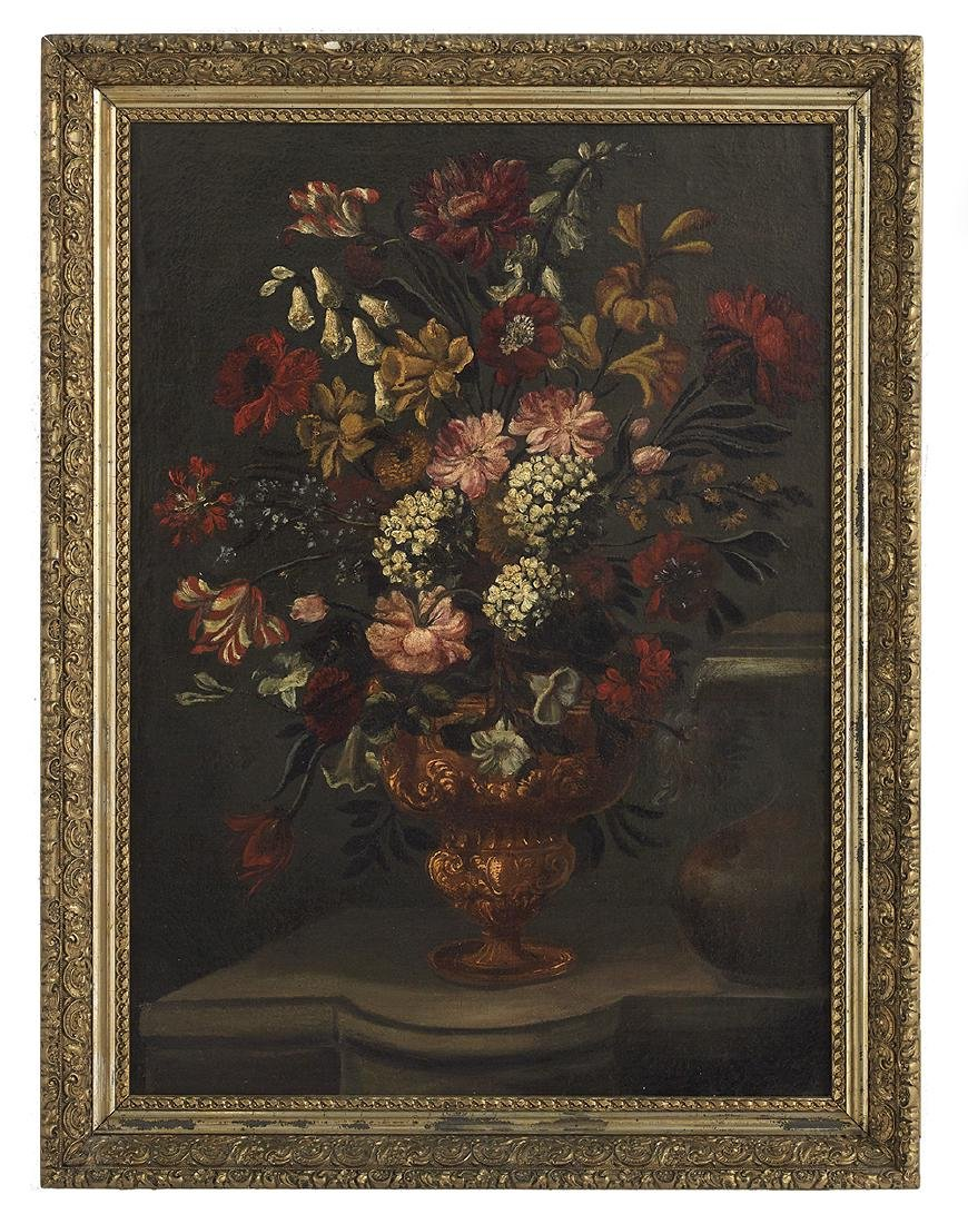"Continental School, (19th Century), ""Floral Still Life"