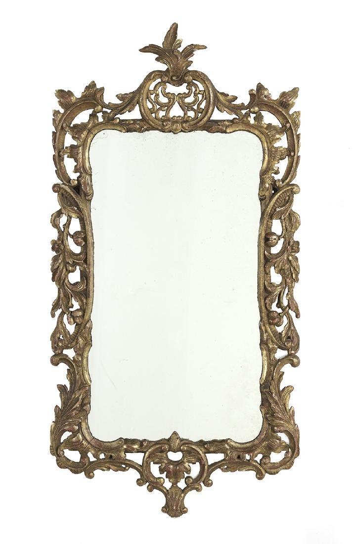 Italian Pierced Giltwood Mirror
