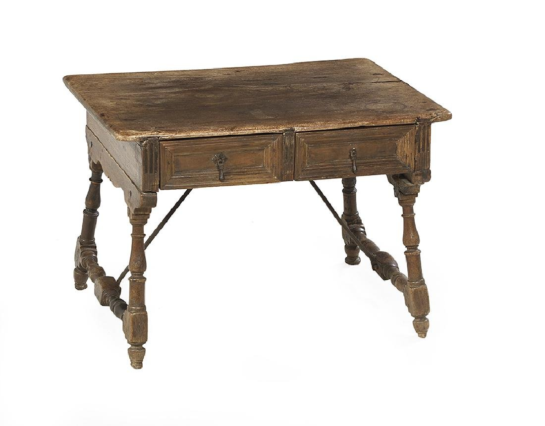 Continental Fruitwood Occasional Table