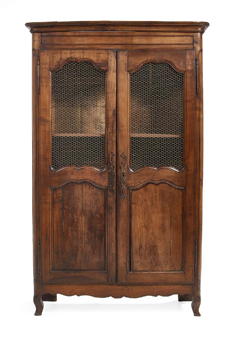 French Provincial Fruitwood Vitrine