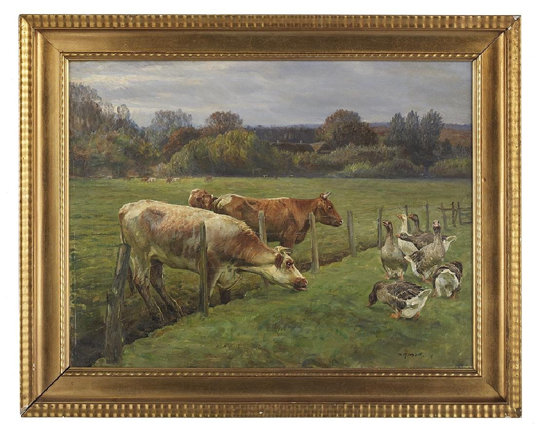 """Niels Pedersen Mols, (Danish, 1859-1921), """"Landscape"""