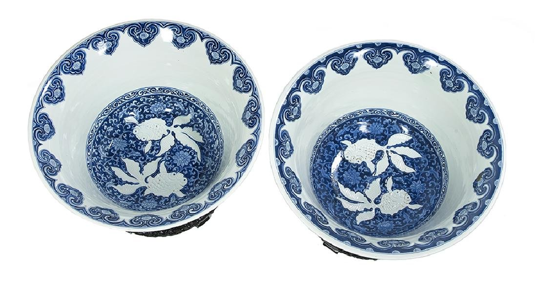 Pair of Chinese Blue and White Porcelain Bowls and - 2