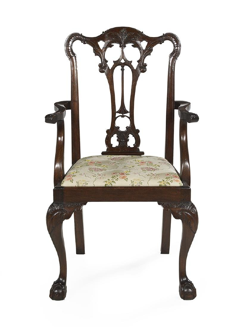 Suite of Eight George III-Style Oak Dining Chairs - 2