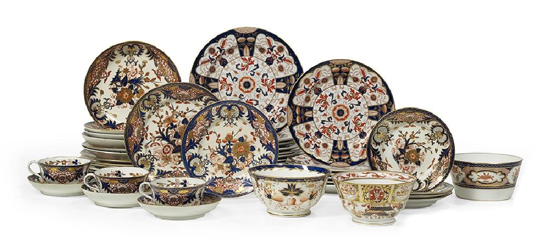 Collection of English Imari Porcelain and Ironstone