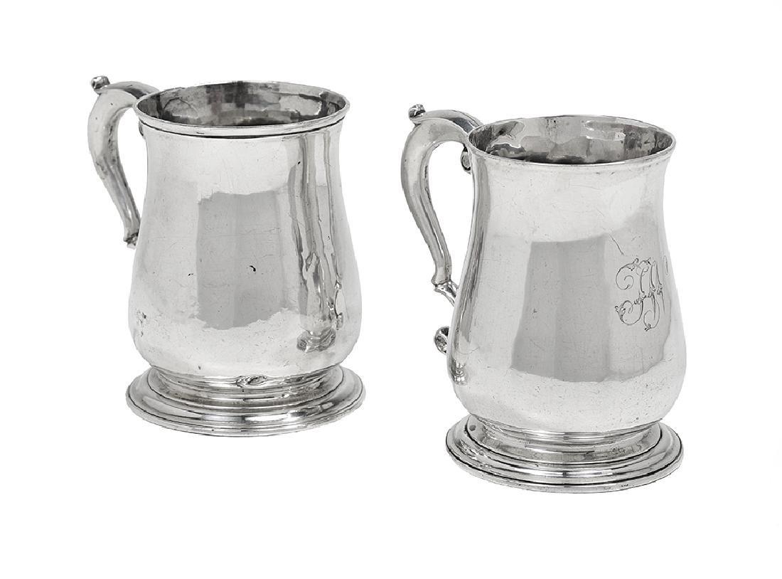 Two George II Sterling Silver Mugs