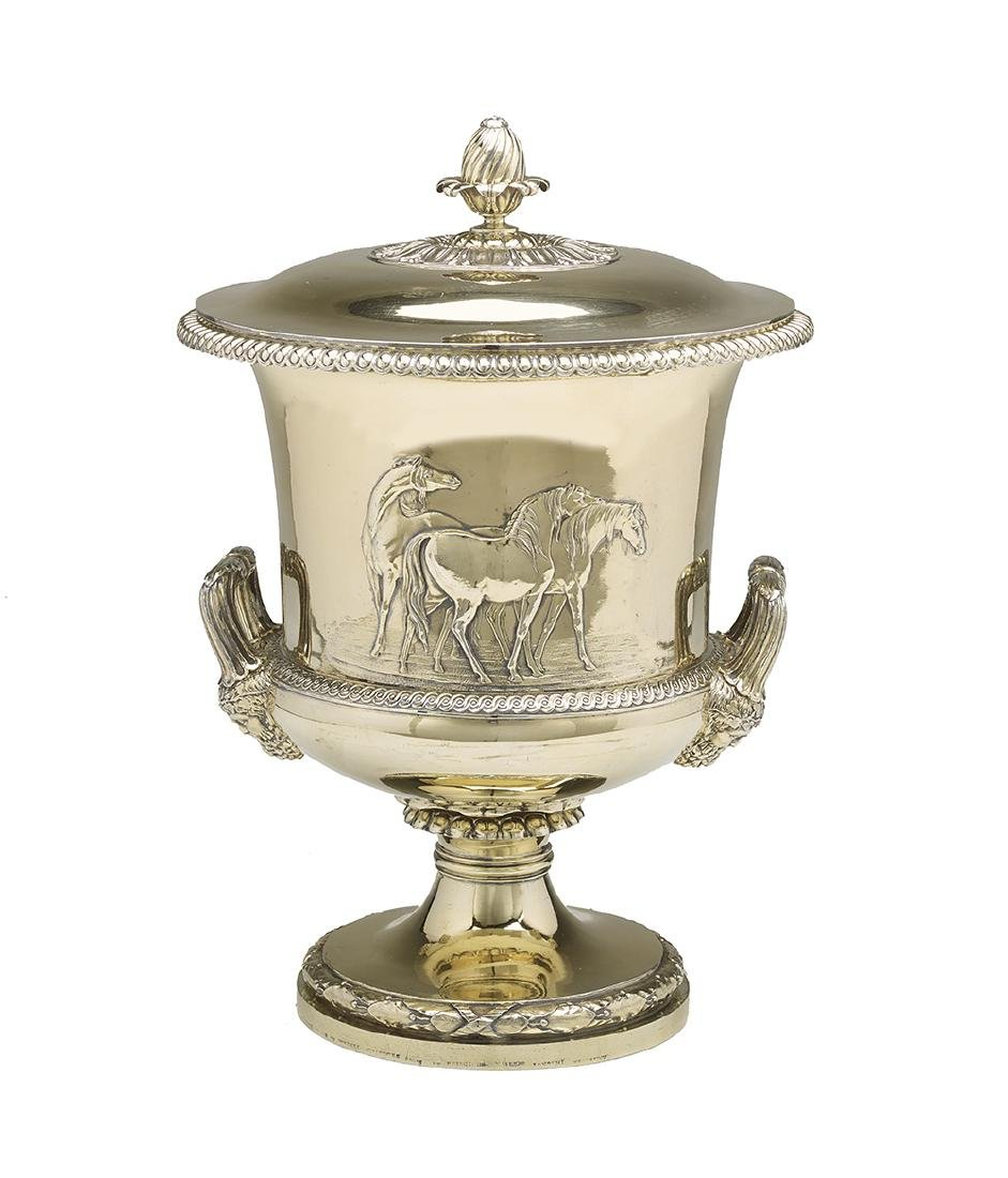 Paul Storr (1771-1844) Sterling Silver Gilt Covered Cup