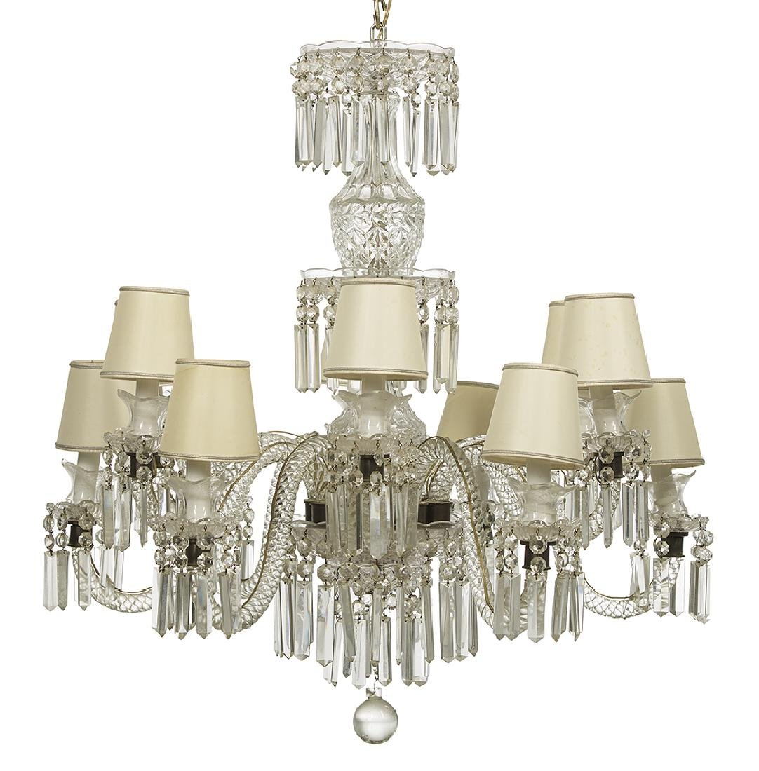 Baccarat-Style Molded Crystal Chandelier