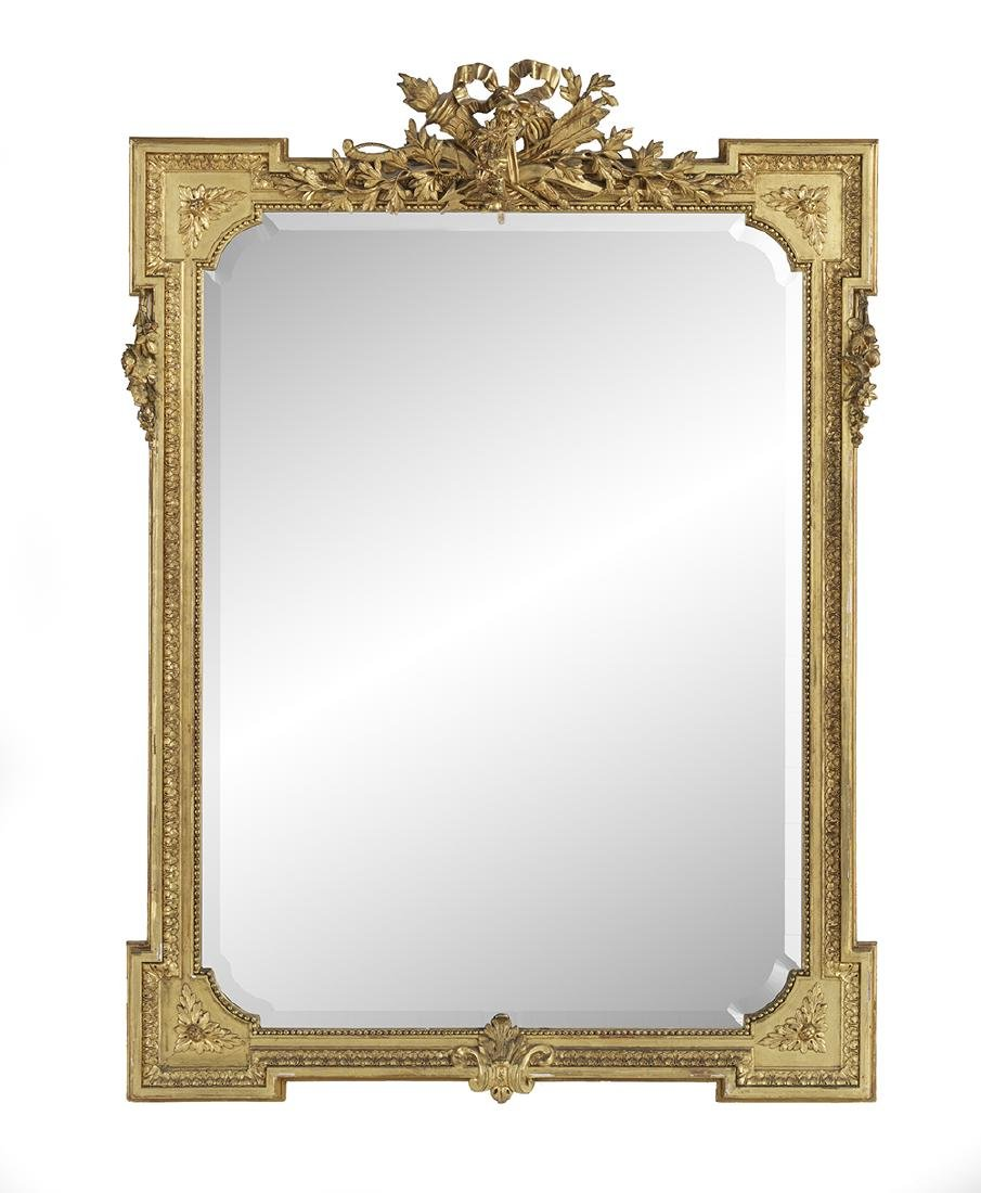 French Fin-de-Siecle Giltwood Mirror