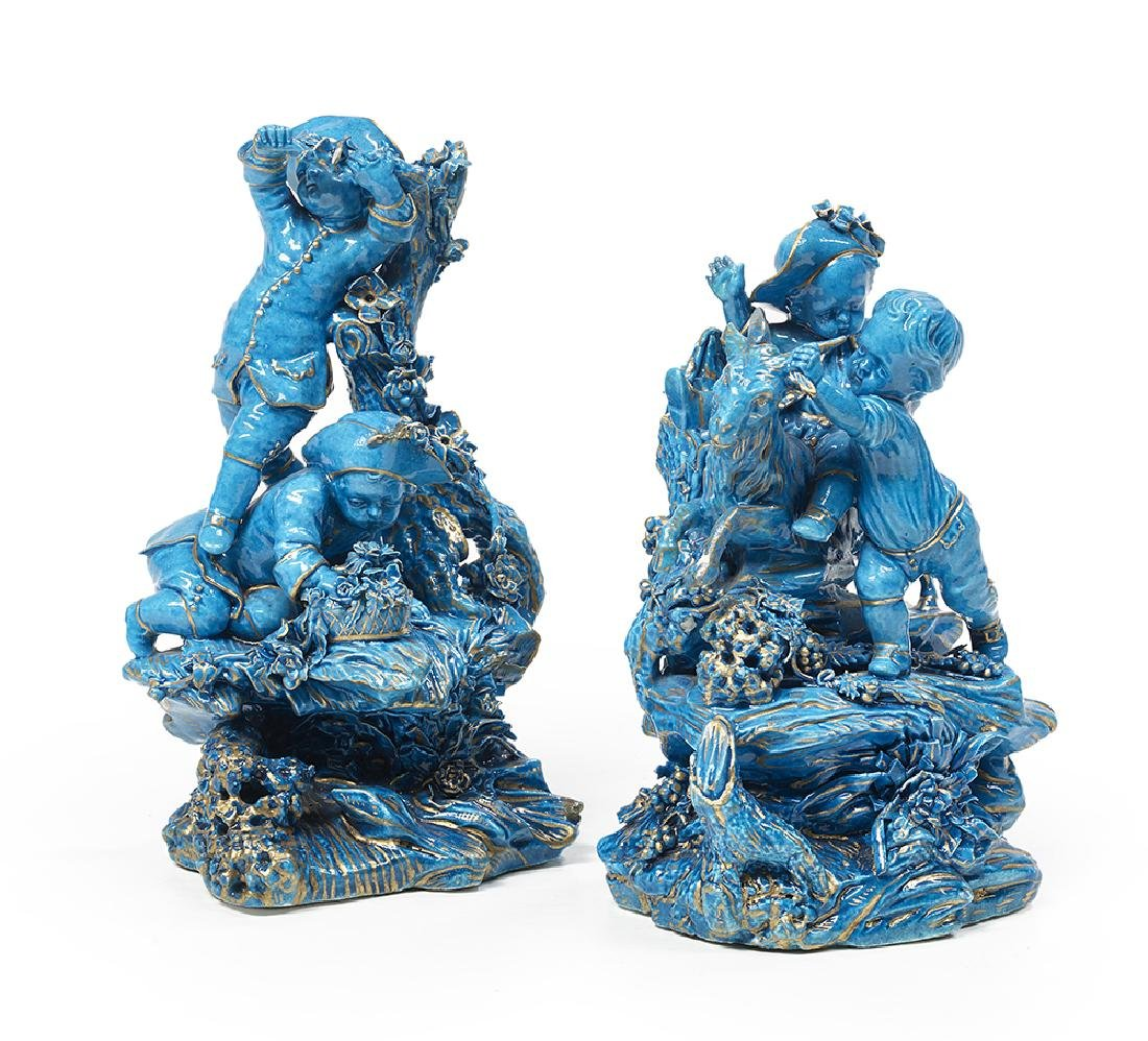 Pair of Carefully Detailed Porcelain Figures of