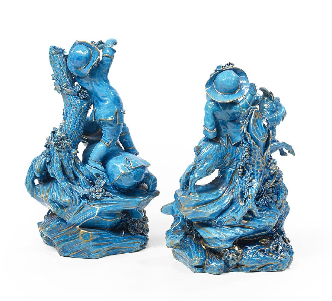 Pair of Carefully Detailed Porcelain Figures of - 2