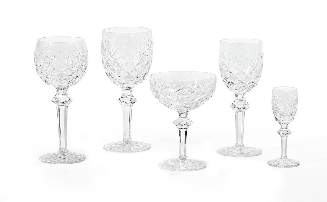 """Partial Service of Waterford """"Powerscourt"""" Cut Crystal"""