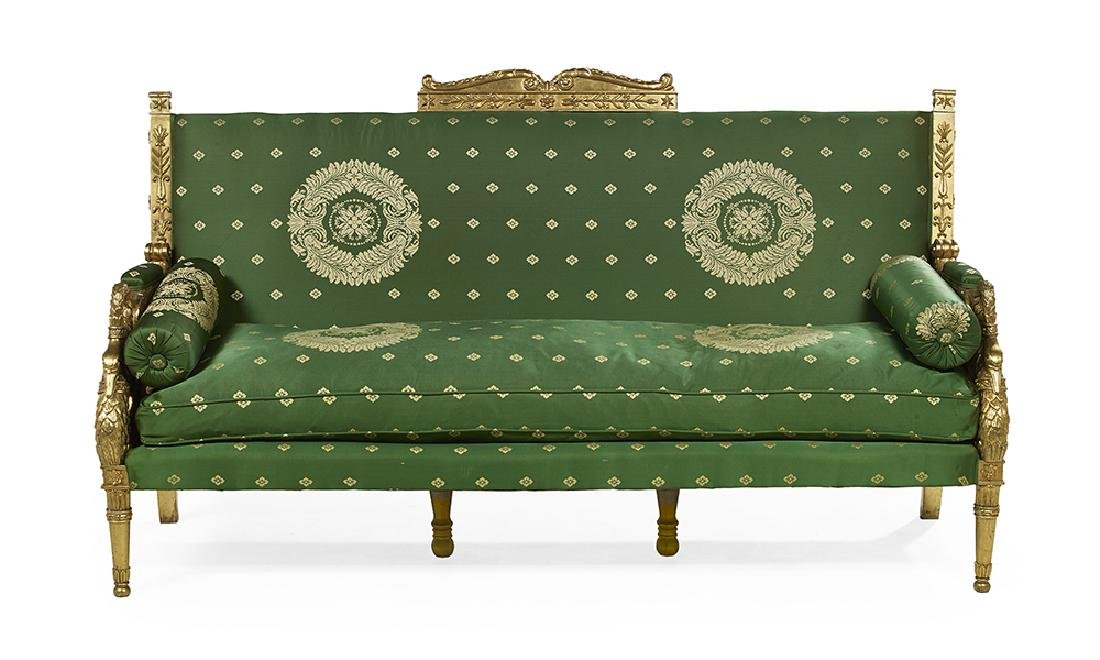 Empire-Style Giltwood Settee
