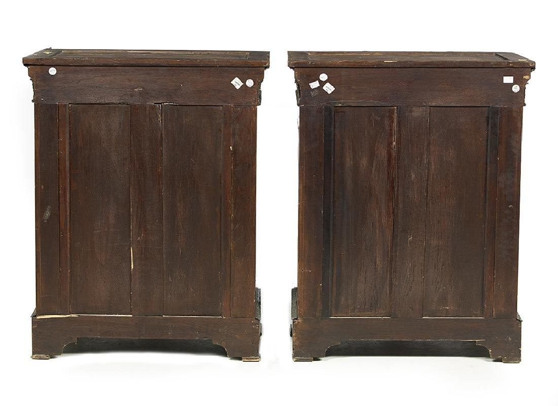 Pair of Napoleon III Ebonized and Marble-Top Cabinets - 4