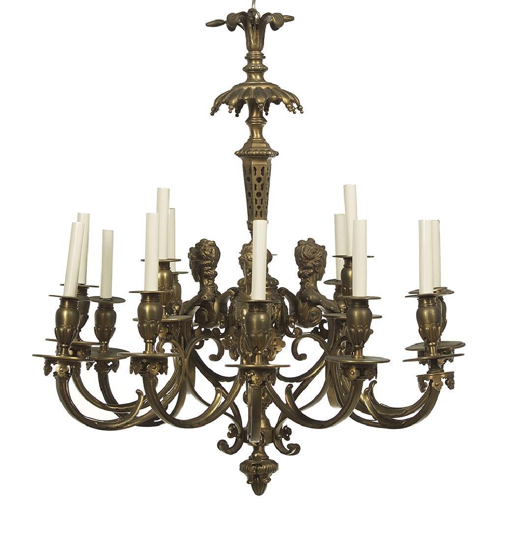 French Gilt-Bronze Chandelier